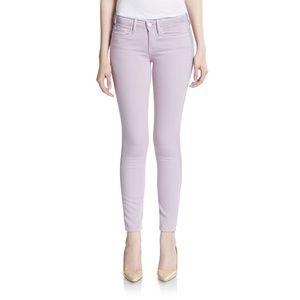 VINCE Dylan Skinny Jeans in Lavender Ghost Stripe